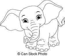 elephant color. Modren Elephant Color Clipart Elephant Baby Coloring Page Clip Library Throughout Elephant A