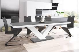 Design Esstisch Tisch He 999 Anthrazit Matt Weiß Hochglanz Kombination Ausziehbar 160 Bis 256 Cm