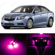 7 x Pink/Purple LED Interior Light Package For 2011 - 2014 ...