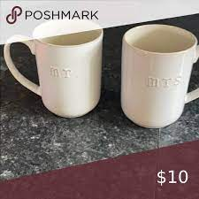 Mr mrs coffee mugs from paper street press! Coffee Cups Mr And Mrs Coffee Cups Used Multiple Times Hobby Lobby Other Coffee Cups Cup Coffee
