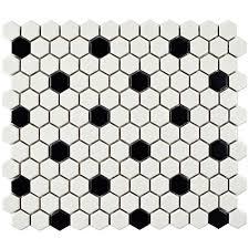 Black and White Tile Amazoncom