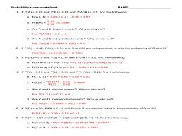 Probability rules worksheet 1 answers fit 800 2 c 600 ssl with ...