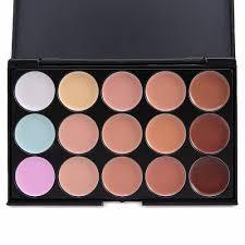 new 15 colors contour face cream makeup set for pincel maquiagem concealer palette with powder puff