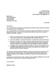 Cover Letter Sample For Students With No Experience Adriangatton Com