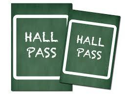 School Hall Pass Template Printables Printable Hall Passes Fellowes