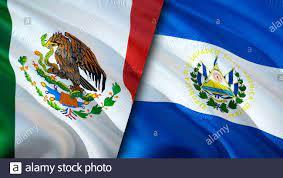Flaggen von Mexiko und El Salvador. 3D ...