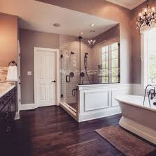 Master Bedroom And Bathroom Beautiful Master Bath Love The Hardwood Tiles Gorgeous Shower