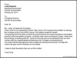 letter of intent for job promotion request letter templates of intent for sample application