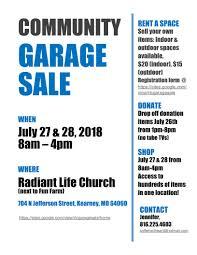 Community Garage Sale Radiant Life Church