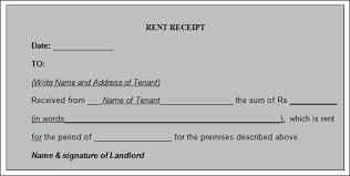 Receipt Format Word Sample Rent Receipt Template 20 Download Free Documents In Pdf Word