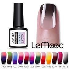 <b>LEMOOC</b> 8ML UV <b>Gel Nail</b> Polish 3 in <b>1</b> Thermal <b>Nail Gel</b> Polish ...