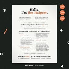 Human Voiced Resume Example HumanVoiced Resume CV Kit Resume Templates Creative Market 98