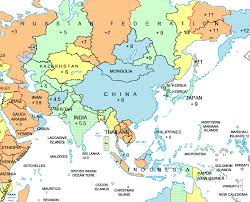 Time Map Asia Time Zone Map