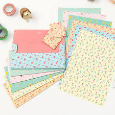 Letters Stationery Cute Lovely Ardium Pattern Letter Set 4sh Writing Stationery Paper