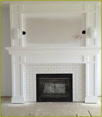 Penny Round Tile Fireplace