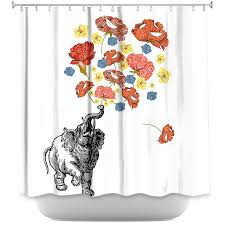 elephant by marci cheary fabric shower curtain elephant shower curtains home
