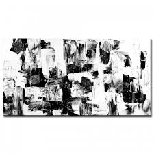 black white abstract painting peter dranitsin acrylic canvas