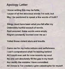 Apology Love Letter Example