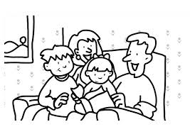 Kleurplaat Lezen Familie Afb 7307 Images