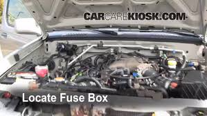 replace a fuse 2000 2004 nissan xterra 2002 nissan xterra se locate engine fuse box and remove cover
