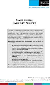 the sample individual employment agreement can help you make a sample individual employment agreement