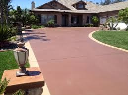 colored concrete driveways how to