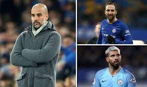 Chelsea forced manchester city to keep their premier league title celebrations on ice as the london club defeated their rivals at the etihad, before the two teams prepare to do battle in the champions league final later in may. Man City Boss Pep Guardiola Picks Winner In Sergio Aguero Vs Gonzalo Higuain Battle Football Sport Express Co Uk