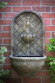 outdoor wall fountains the outdoor wall fountain stone finish water feature for garden patio and landscape outdoor wall fountains