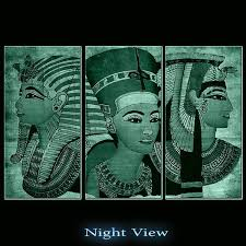 startonight canvas decor ancient egypt usa design for home illuminated african painting modern canvas wall art framed ready to hang set of 3 total 47 2 x