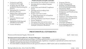 resume contractor construction project manager resume template general contractor cv