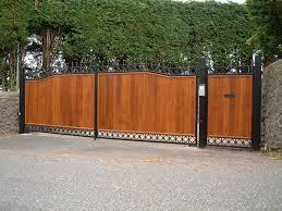 wooden infill gates