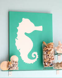 interior, Superb White Animal Sea Picture On Green Green Frame Closed  Animals Sea Trim On. interior, Eye Catching Canvas Art Projects ...