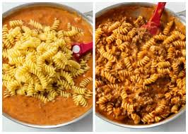 Cook, stirring frequently with a wooden spoon, until the onion is soft, about 3 minutes. Ground Beef Pasta The Cozy Cook