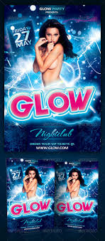 glow party flyer template psd by yellow emperor graphicriver glow party flyer template psd clubs parties events