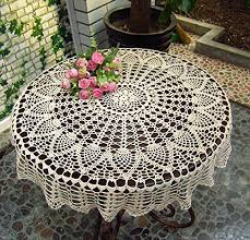 new beige 36 round handmade crochet sunflower lace table cloth doily n06 kitchen dining tcfu2czca