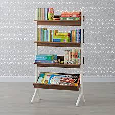 Danish Modern Walnut & White Tall Bookcase ...