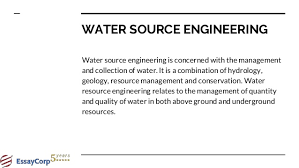 civil engineering assignment help 6 water source engineering
