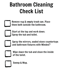 Bathroom Cleaning Schedule Cool Design Ideas