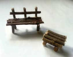 Make miniature furniture Sofa Fun Miniature Craft Free Tutorial With Pictures On How To Make Doll Accessory Funky Junk Interiors Miniature Bench And Table How To Make Doll Accessory Home