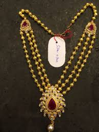 Gold Long Necklace Designs In 35 Grams Haram 35 Gms Pearl Necklace Designs Gold Jewelry Simple