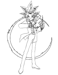 Coloring Page Yu Gi Oh Coloring