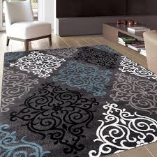 gray and black area rugs fresh modern transitional soft damask grey rug x of new photos