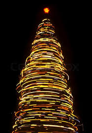 Blurred rotating Christmas tree | Stock Photo Colourbox