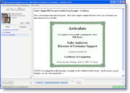 how to make a certificate of completion web object php to generate a custom certificate of completion