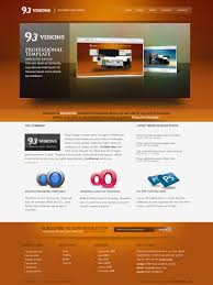 professional webtemplate 93visions 4 in 1 modern professional html template