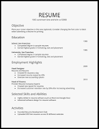 63 Amazing Photos Of Free Basic Resume Templates