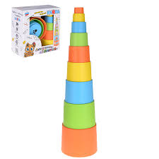 "<b>Мягкая пирамидка стаканчики</b> с наклейками ""Теремок"" <b>KNOPA</b> ..."