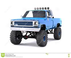 A Large Blue Pickup Truck Off-road. Full Off-road Training. Highly ...