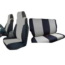 innocessories jeep wrangler neoprene seat covers combo set fit for 2003 2006 jeep wrangler tj