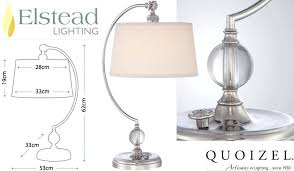quoizel lenox table lamps tiffany 1960 attractive lamp lighting engaging polished nickel qz l pretty 1973
